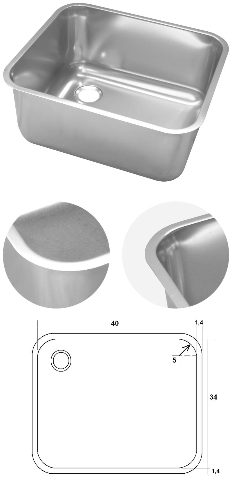 Bac inox rectangle encastrer souder ou poser bacs - Bac pro decorateur interieur ...